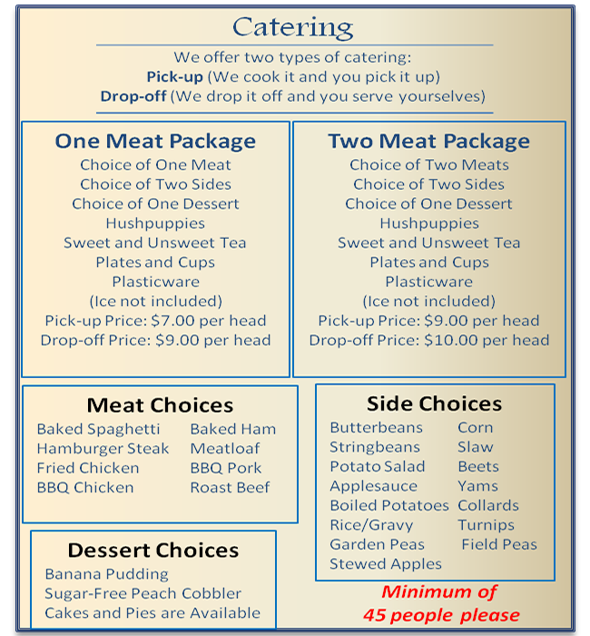 Catering List